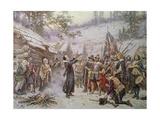 The First Sermon Ashore in 1621