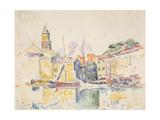 French Port of St Tropez  1914