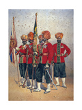 Soldiers of the 15th Ludhiana Sikhs  Illustration for 'Armies of India' by Major GF MacMunn …