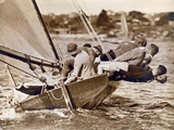 "Crew of the ""Arawatta"" During the ""Eighteen Footer"" Race  Sydney Harbour  9th April 1934"