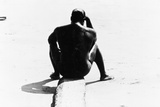 Shirtless Seated Man at Coney Island  Untitled 32  c1953-64