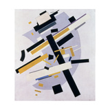 Supremus No 58 Dynamic Composition in Yellow and Black  1916