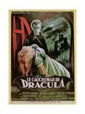 Poster Advertising the French Version of the Film  'The Horror of Dracula'
