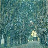 Avenue in the Park of Schloss Kammer  1912