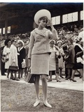 Jean Shrimpton (B1942) at the Melbourne Cup in 1965