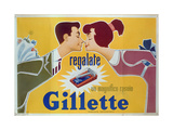 Poster Advertising Gillette Razors