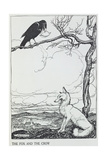 The Fox and the Crow  Illustration from 'Aesop's Fables'  Published by Heinemann  1912
