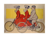 Man on a Bicycle and Women on a Tandem  1905