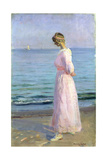 Girl in a Pink Dress  1914