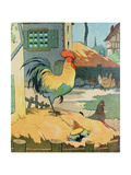 The Cock  Illustration from 'Le Buffon de Benjamin Rabier'  Adapted from 'Histoire Naturelle' of…