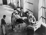 A Field Surgery Unit Operating in an Italian Prison under Fire During World War Two  from a…