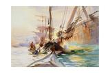 Unloading Boats in Venice  1904