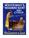 Advertisement for 'Whiteway's 'Woodbine Blend' Dry Cyder'  1920s
