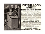 Advertisement for 'Foots' Hot Air and Vapor Bath Cabinet'  1900s