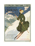 Poster Advertising Sncf Routes to Chamonix  1910
