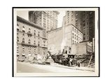 Excavations at the Building Site for the Aeolian Company Building at 5th Avenue and 54th Street …