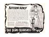 Advertisement for 'Bile Beans'  1900s