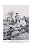 Captain Cook Landing in Tasmania  1777  Illustration from 'Hutchinson's Story of the British…