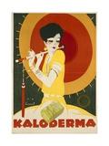 German Advertisement for 'Kaloderma' Soap  Printed by F Wolff and Sohn  Karlsruhe  1927