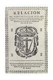 Notice Concerning an Auto de Fe in Granada  1722  from 'The Spanish Inquisition' by Cecil Roth …