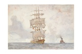 Barque and Tug  1922