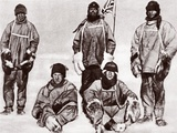 Scott  Wilson  Oates  Bowers and Evans at the South Pole  18th January 1912