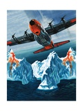A Lockheed Hercules Patrolling Icebergs for the Coast Guard