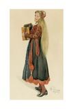 Lisbeth Playing the Accordian  1909