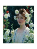 Among the Hollyhocks  1904