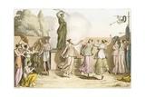 Greek Women Dancing around Statue of Diana