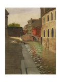 Rio Della Salute  Venice  c1902