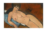 Nude on a Blue Cushion  1917
