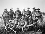 American Patrol with German Machine Gun Captured in the Saint-Mihiel Offensive on the Western…