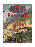 Road Construction  Front Cover of the 'Dupont Magazine'  May 1919