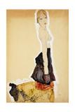 Kneeling Girl with Spanish Skirt; Knieendes Madchenmit Spanischem Rock  1911