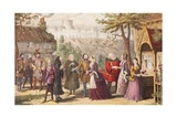 Sir John Falstaff on a Visit to His Friend Page at Windsor  Illustration from the Merry Wives of…