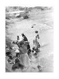 Washing at the River Near Tehuantepec  Mexico  1929