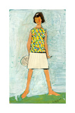 Sketch of a Girl in a Tennis Dress  1968