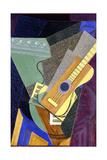 Guitar on a Table; Guitare Sur Une Table, 1916 Reproduction d'art par Juan Gris