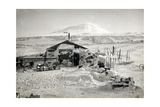 Hut and Mt Erebus Photographed by Moonlight  13th June 1911