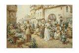 A Flower Market  France  1900