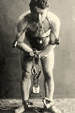 Portrait of Harry Houdini in Chains c1900