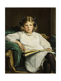 Portrait of Betty  Three-Quarter Length Seated  Reading a Book  1915