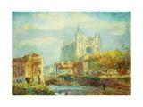 Amiens Cathedral in Autumn Sun; Cathedrale d'Amiens: Effet de Soleil Automne  1910