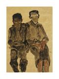 Two Seated Boys; Zwei Sitzende Knaben  1910