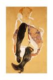 Seated Woman with Black Stockings; Sitzendes Madchen Mit Schwarzen Strumpfen  1911