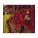 Fern Gatherers in the Bois d'Amour at Pont Aven; Les Ramasseuses de Fougeres Au Bois d'Amour a…