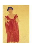 Woman with Blue Hair; Frau Mit Blauem Haar  1918
