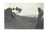 Judy Smith on a Rickshaw Near Galle Face Hotel  Colombo  Ceylon  1912