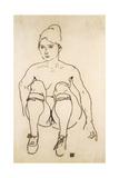 Seated Nude with Shoes and Stockings; Sitzende Akt Mit Schuhen Und Strumpfen  1918